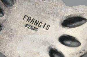 画像4: ナバホ族 Melvin Francis キングマンターコイズ スタンプワーク シルバー&ブラス(真鍮) ペンダント 1