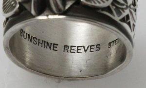 画像5: ナバホ族 Sunshine Reeves スタンプワーク リング 21.5号 2
