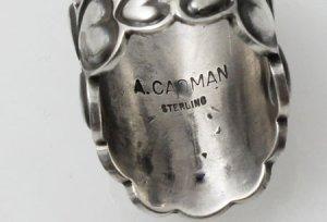 画像4: ナバホ族 Andy Cadman サンバーストデザイン スタンプワーク リング 18号